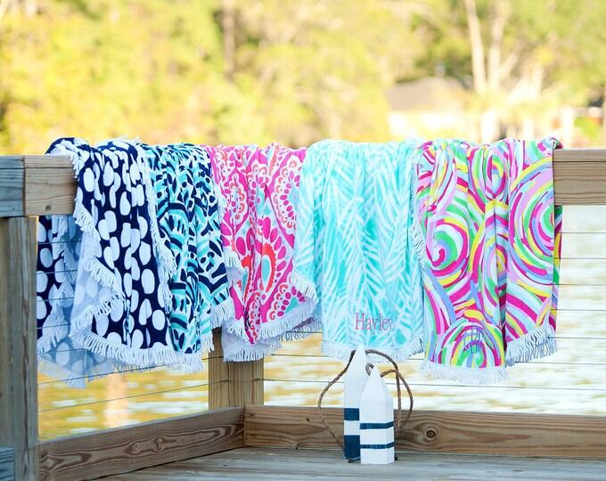 Monogram Beach Towels, Monogrammed Round Beach Towel, Sand Circle Beach Towel, Oversized Beach Towels, Monogrammed Beach Towels