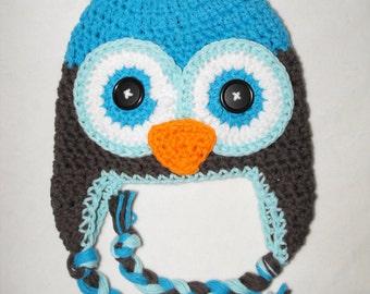 Baby hat, crochet owl hat, baby hat, crochet kids hat, owl hat, crochet baby hat, owl hat,newborn owl hat,winter hat,baby winter hat
