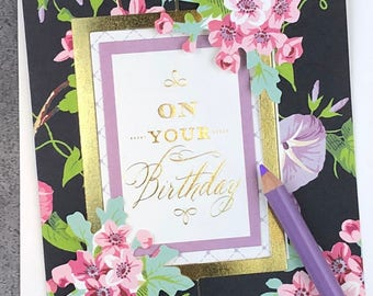 On Your Birthday - May All Your Wishes Come True II... Fabulous Flip Action Card