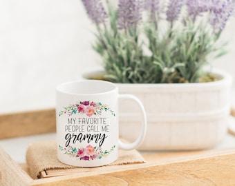 My Favorite People Call Me Grammy Funny Mug   Grandma Coffee Mug   Gift for Grandma   Pregnancy Reveal   Mom Gift   Custom Mug for Her