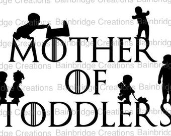 Mother of Toddlers  Vinyl stickers