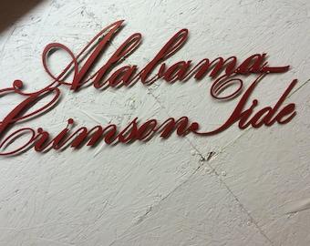 Alabama Crimson Tide metal wall art