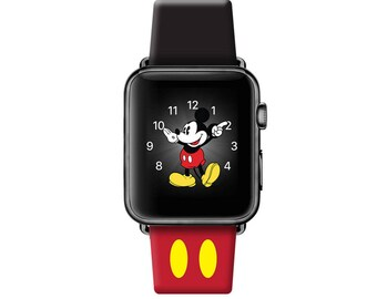 Leather Apple Watch band, 42mm, 38mm, Leather watch band, Apple watch strap, iwatch band Apple watch leather band, Mickey Ear iwatch strap
