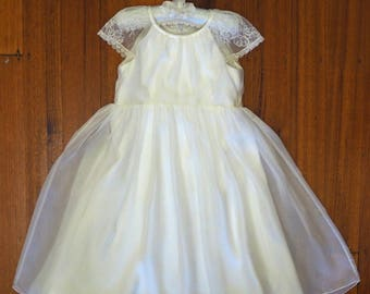 Zoe beautiful handmade silk flowergirl dress