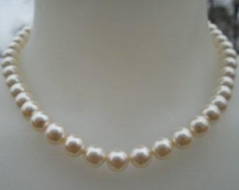 Bridal Necklace, Bridesmaids Gift, Swarovski Pearl Necklace, Classic Bridal Necklace, Wedding Jewelry