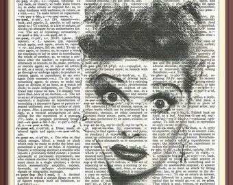 Lucille Ball--Funny Lady--Vintage Dictionary Art Print---Fits 8x10 Mat or Frame