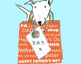Bull Terrier Father's Day Card