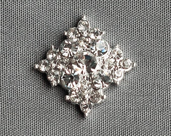 3 Rhinestone Button Embellishment FREE Shipping of 20.00 Order Pearl Crystal Wedding Brooch Bouquet Hair Comb Clip Pin BT023