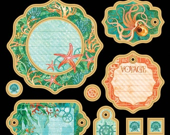 IN STOCK Graphic 45 G45 Voyage Beneath the Sea Journaling Chipboard 1 4501333