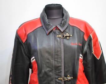 Vintage UNLCE SAM LEATHER jacket , women's leather jacket...............(506)