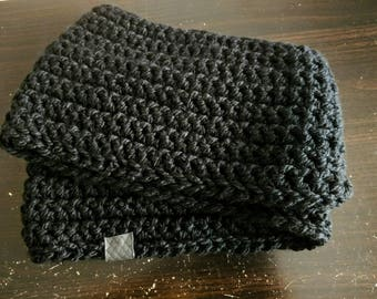 Darkling crochet infinity scarf