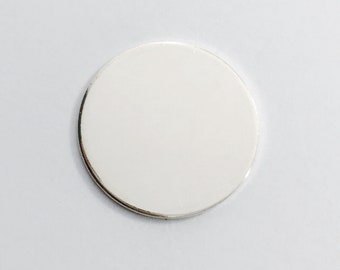 10 Pack 3/8 inch 20 Gauge Sterling Silver Round Circle Discs Jewelry Stamping Supplies