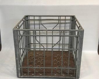 Metal Milk Crate, Whitney Farms