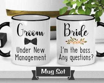 Bride and Groom Mugs - Bride and Groom Mug Set - Wedding Mug Set - Gift for Bride and Groom - Wedding Gift - Bride and Groom Gift
