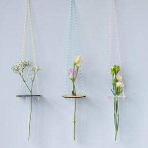Hanging Vase   Minimal Hanging Vase, Test Tube Vase, Party Decoration,  Wedding Decor