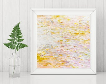 Impressionist Art Printable - Abstract Art Printable - Digital Download Art Print - Abstract Art Print - Pastel Modern Wall Art - 8x8, 10x10
