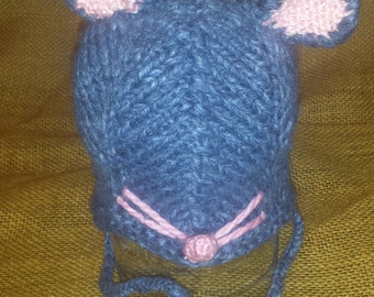 Knitted Mouse hat
