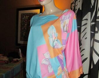 Vintage Vera blouse.Vera print blouse.