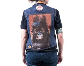 Custom Denim Vest with patches