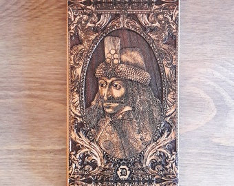 iPhone 7 Case, iPhone 8 Plus Case, Samsung Galaxy S7 Edge Plus Cover, Real Wood & TPU / PC Hybrid Snap On Case, Vlad the Impaler, Dracula