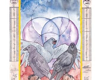 Samhain Ravens Print