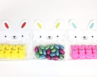 Easter - Treat Bag | Set of 6 | Easter Bunny Party Favor, Candy Bag | Treat Bag Topper | Classroom Favor | Easter Gift Bag