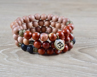 Red Jasper Bracelet / grounding jewelry, yoga energy bracelet, jasper yoga bracelet, jasper jewelry real, grounding gemstone