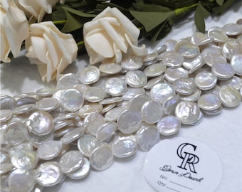 12mm coin shape pearls necklace for jewelry making