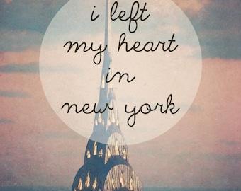 New York Art - 8x10 photograph - Chrysler Building - Art Deco -  fine art print - vintage photography - New York skyline