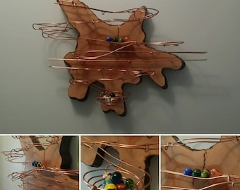 "Rolling ball sculpture ""Cypress"" - wall-hanging kinetic art!"