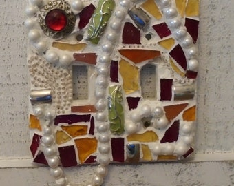 mosaic switch plate cover