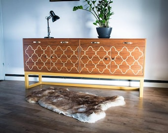 Sale!!! Retro Vintage Mid Century Long Danish Style Sideboard Era 60's
