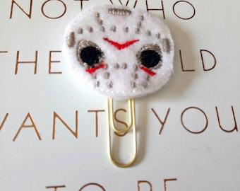 Horror planner clip, feltie planner clip, Halloween planner clip, Halloween bookmark, horror bookmark, planner accessories, c3