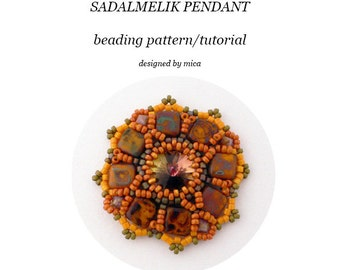 Sadalmelik Pendant - Beading Pattern/Tutorial - PDF file for personal use only