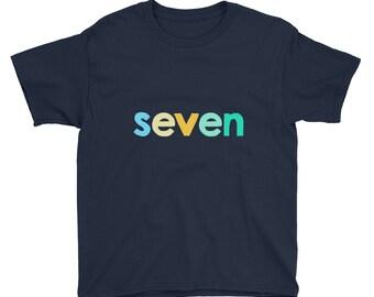 Seventh Birthday Youth Short Sleeve T-Shirt