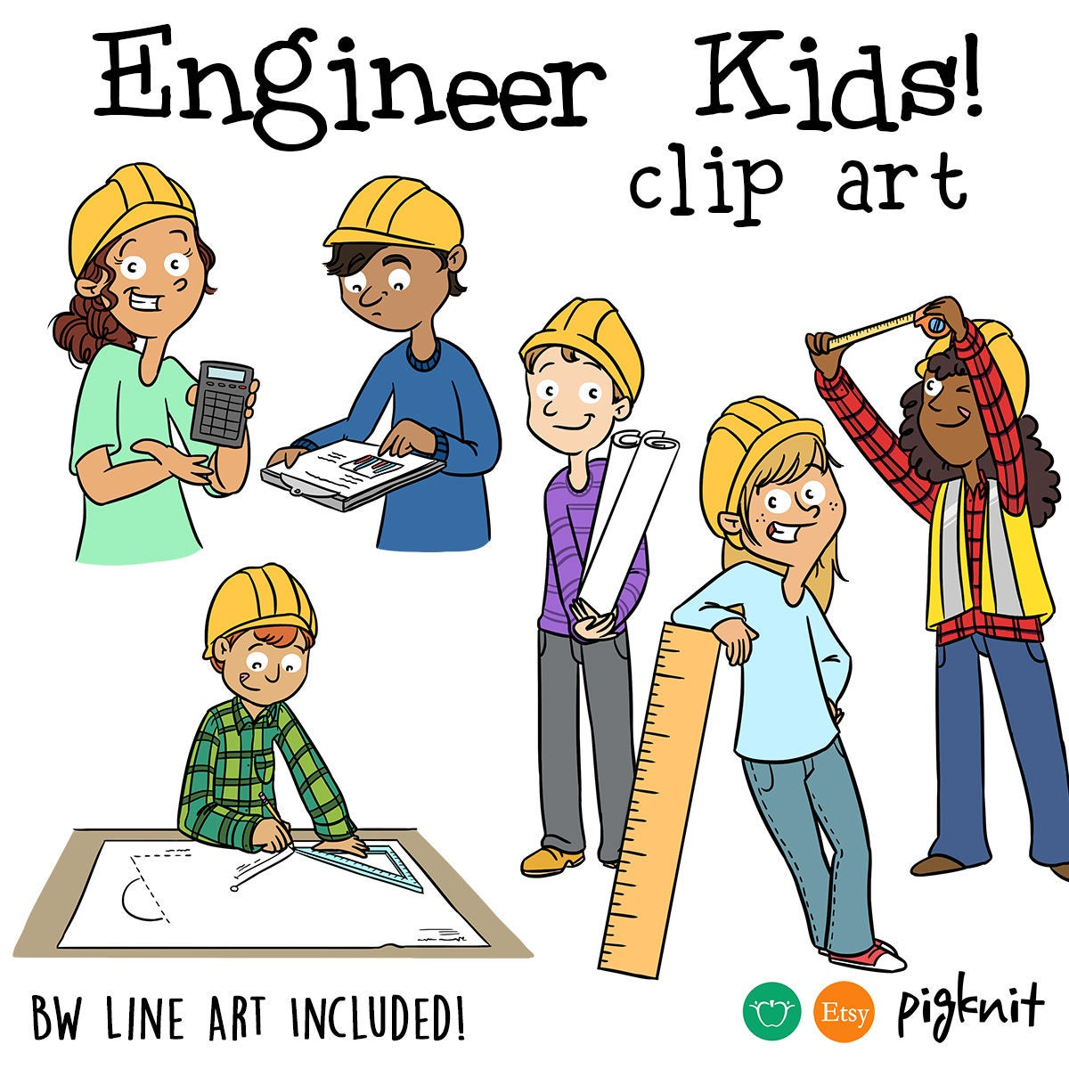 Engineering Clipart Engineer Clip Art STEM Clipart Middle