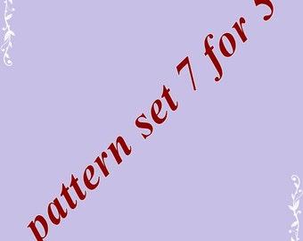 Amigurumi pattern set 7 for 5