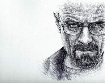 Breaking Bad Portrait Walter White (alias Heisenberg) Print 8X10