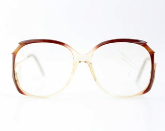NOS haute couture Neostyle Mondial eyeglasses / Vintage Translucent glasses / Oversized optical frames