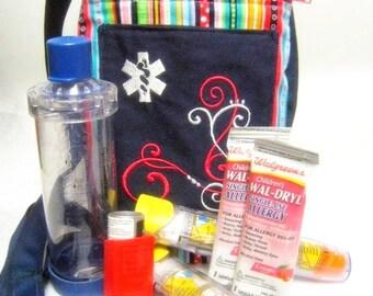 Larger Inhaler Asthma Supply Case / Medicine Pack / Epi-Pen Case / Purse by Alert Wear