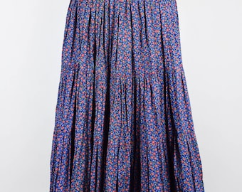 Floral Broom Skirt || Peasant Skirt || Midi Skirt