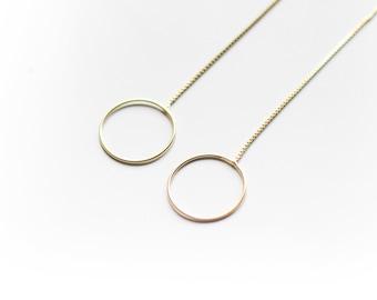 MANHATTAN-Hoop Earrings-Hoop stud dangly-Minimal hoop Earrings-Chain hoop Earrings-Circles Earrings-Trend Hoops