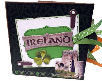 Ireland Scrapbook - Paper Bag Travel Album - Mini Scrapbook