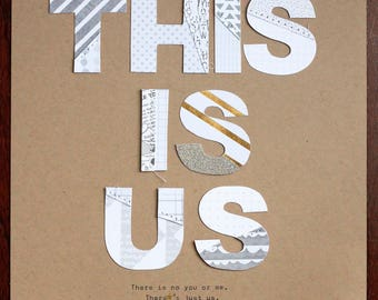 This is us - DIN A4 (30x21 cm) Collage Print - Wall Art Decor