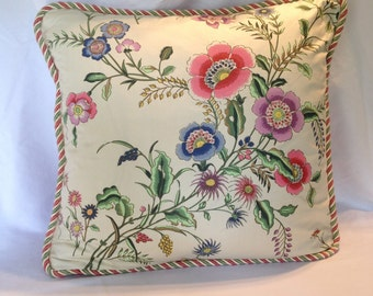 Vibrant Floral Scalamandre Pillow Cover