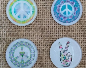 Peace Sign Magnets - Hippie Magnets - Tie Dye Magnets - Love Magnets - Refrigerator Magnets - Birthday Gift