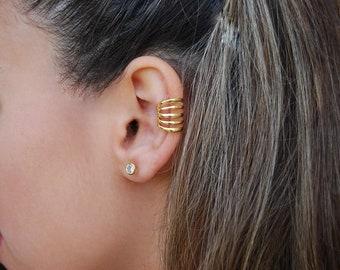Dainty ear cuff, Sterling silver ear cuff, Dainty jewerly.