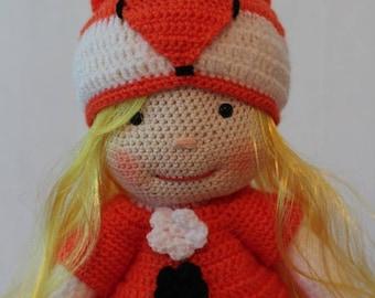 Amigurumi doll - Fox Amigurumi doll - 15 in doll