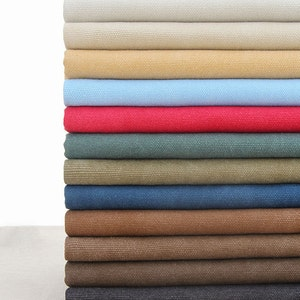 """20oz Heavy weight canvas, Solid cotton canvas fabric for bag purse, Pre washed canvas, 43"""" wide- 1/2 yard"""