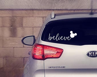 Believe Decal || Believe Sticker || Believe Disney Decal || Believe Disney Sticker || Believe Disney Car Decal || Disney Car Decal ||
